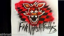 Five Nights at Freddy's  foxy personalized airbrush t shirt
