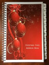 Christmas Card Address Book 8yr Tracker A-Z TABS Cover designs Vary Personalized