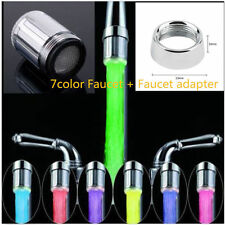 LED Water Faucet Stream Light 7 Colors Changing Glow Shower Stream Tap Univer KG