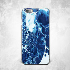 Blue Water Marble Hard Case Cover For Apple iPhone 4 4s 5 5s 5c SE 6 6s 7 plus