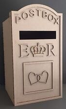 Y61 XX-LARGE Wedding LETTER Post Box Message GIFT Unpainted MDF Table Display