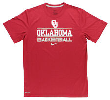 Nike Mens Dri-Fit Oklahoma University Basketball Legend Shirt Red