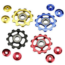 11Tooth MTB Ceramic Bearings Jockey Wheel Pulley Road Bicycle Bike Derailleur