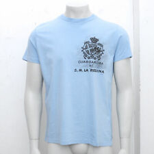 NEW Mens Prada Light Blue Graphic Jersey Cotton T-Shirt Tee Top GENUINE RRP £150