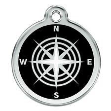 Red Dingo Stainless Steel & Enamel Compass Dog ID Tag