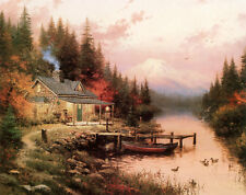 The End of a Perfect Day Thomas Kinkade 9x12 Canvas NEW Giclee Brandy Frame
