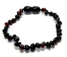 Genuine Baltic Amber Baby Anklet Bracelet for Child Dark Cherry 6.3 - 6.7 in