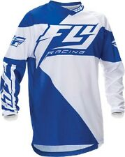 NEW FLY Racing F16 Blue White Jersey motocross atv off road YOUTH Kids