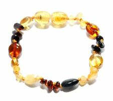 Genuine Baltic Amber Beads Baby Anklet Bracelet Mixed 5.5 - 5.9 in