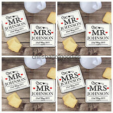 PERSONALISED MR & MRS MR & MR MRS & MRS COASTER SET of 2 DRINK DRINKS Coasters