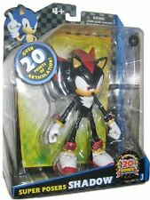 Sonic The Hedgehog Shadow Figure - Super Poser 20th Anniversary - (Jazwares)