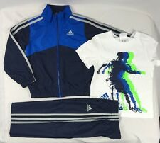 Adidas Boys Set, Adidas 3 piece Windbreaker Tracksuit Jacket and Pants size 3