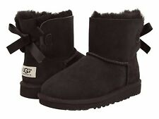 Children's Shoe UGG Kids Mini Bailey Bow Boots 1005497Y Black *New*