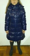 New 8-10-12-14yr ELSY GIRL Hood Puffer Down Jacket Coat Parka Blue Italian Desig