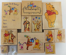 Winnie the Pooh and Friends Wood Mount Rubber Stamp Disney Tigger Piglet U PICK