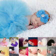 Newborn Toddler Baby Girl New Cozy Tutu Skirt Headband Photo Prop Costume Outfit