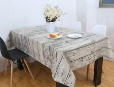 Wood Grain Table Cloth Cotton Linen Tablecloth For Table Rectangle size IN CM