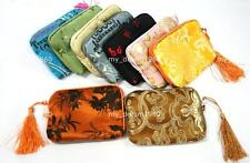 WHOLESALE Silk Bags Brocade Wallet Pouch Coin Purse Zipper Camera bag WithTassel