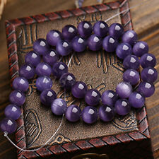 "Natural Round Amethyst Jewelry Loose Gemstone Stone Beads Spacer Strand 15"" New"