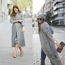 ZARA extra long grey wool coat sold out bloggers favorite new Large L