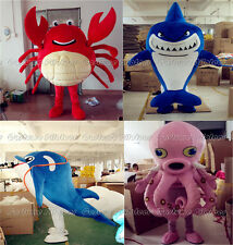 High Quality Crab octopus dolphin shark cartoon Mascot Costume Fancy party Dress