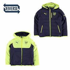 Puma Arsenal FC Reversible Jacket Juniors Yellow Football Soccer Coat Top