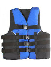 Adult Life Jacket Deluxe USCG Approved 4-Buckle Dual Sized PFD Ski Vest SM - 3XL
