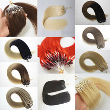 1g/s Double Drawn Micro Ring Bead Loop Tip Remy Human Hair Extensions 16''-22''