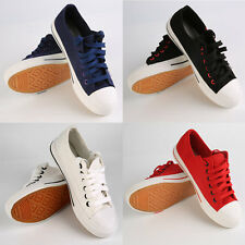 4 Colors Canvas Women Lace-up Side Zipper Help Low Flat Casual Shoes 36-40 I6