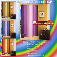 Rainbow ready made Eyelet Curtains Pair