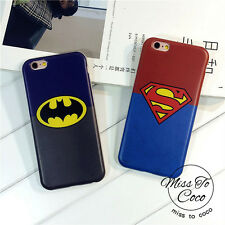 Cool Superman Batman Rubber Soft Silicone Case Cover Skin for iPhone 5 6 6S Plus