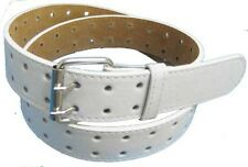 "LA120 $ALE, $ALE!! 1.5"" WHITE TWO HOLE CASUAL JEANS LEATHER BELT, SIZES TO 3XL"