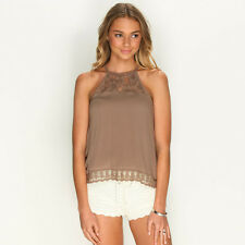 New Mooloola Canyon Top in Brown | Womens Fashion Tops & Shirts