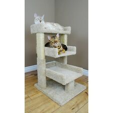 Cat Post Scratcher Bed Pet Furniture Triple Condo House Kitty Perch Play New Toy