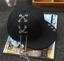 New Korean Personality Hip Hop Adjustable Snapback Hat Baseball Cap Black Unisex