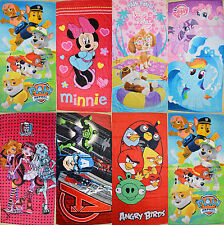 Boy Girls Paw Patrol Minnie Pony Birds Bath - Beach - Pool Towel 70 x 145cm