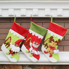 Christmas Gift Candy Bag Santa Claus Snowman Elk Xmas Decoration Ornament Sock