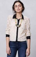 NEW Anthropologie Vanessa Virginia Gemma Lace Buttondown  Size 2-4-8
