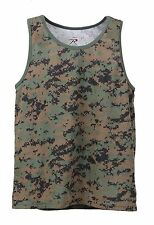 Woodland DIGITAL CAMO Tank Top PT t-shirt Work Out MARPAT US Marine Corps USMC