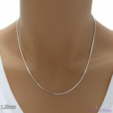 1.25mm (Gauge 030) 925 Sterling Silver DIAMOND CUT SNAKE Chain Necklace, Italy