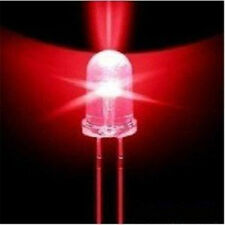 New 2 Pcs 10 Pcs LED 3MM Red Color Top Round RED Llight  Lamp Super Bright