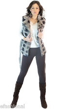 European chic Faux Fur sleeveless vest very warm winter cute on trend jeans boot