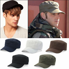 Men Womens Adjustable Army Plain Hat Cadet Military Cadet Baseball Sport Cap New