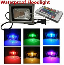 RGB 16 Colors LED Floodlight Outdoor Waterproof Garden Lamp+Remote 10/ 20/ 30W