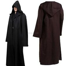 Adult Halloween Costume Hooded Cloak Cape Star Wars Jedi Cosplay Robe Apparel