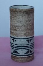 Troika Pottery  CYLINDER  VASE - Decorated by Jane FitzGerald- Special Delivery