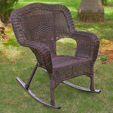 Outdoor Resin Wicker Rocking Chair - Several Colors