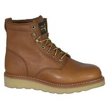 Golden Retriever Mens Brown Crazy Horse Leather Steel Toe 6in Wedge