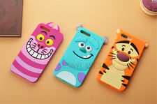 3D Cute cartoon cat sully tiger RUBBER soft Case cover for iphone 7 5 6S plus