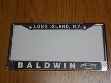 BALDWIN MOTION CHEVERLOT LICENSE PLATE FRAME MOTION YENKO 427 CAMARO
